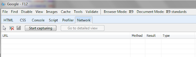 IE F12 debugger tools