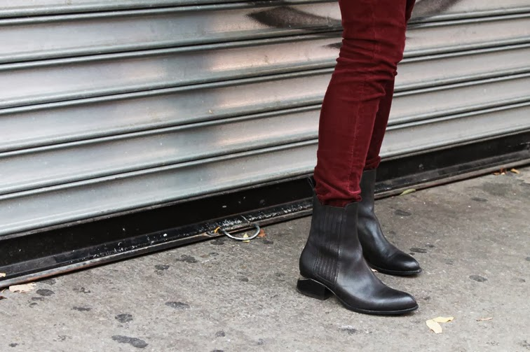 Rag & Bone oxblood cords Alexander Wang Anouck boots