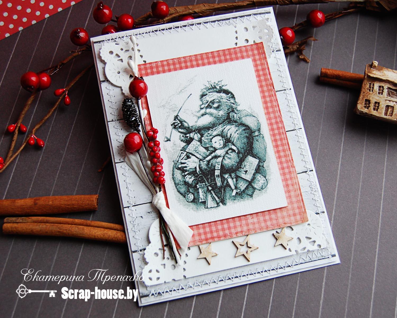 Новогодняя скрап открытка купить Минск