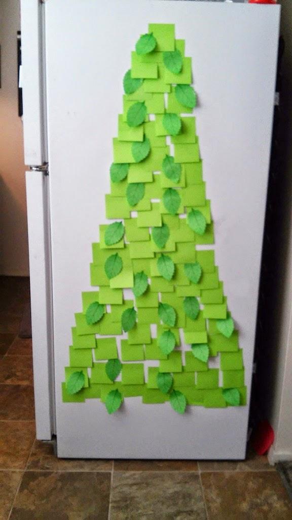 Liz Makes Liz Makes A Post It Note Christmas Tree