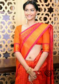 Sonam Kapoor in saree Cute gallery
