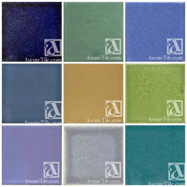An example of the various glaze colors available with our Pool Tile Collection
