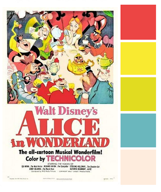 Poster Palette - Alice in Wonderland