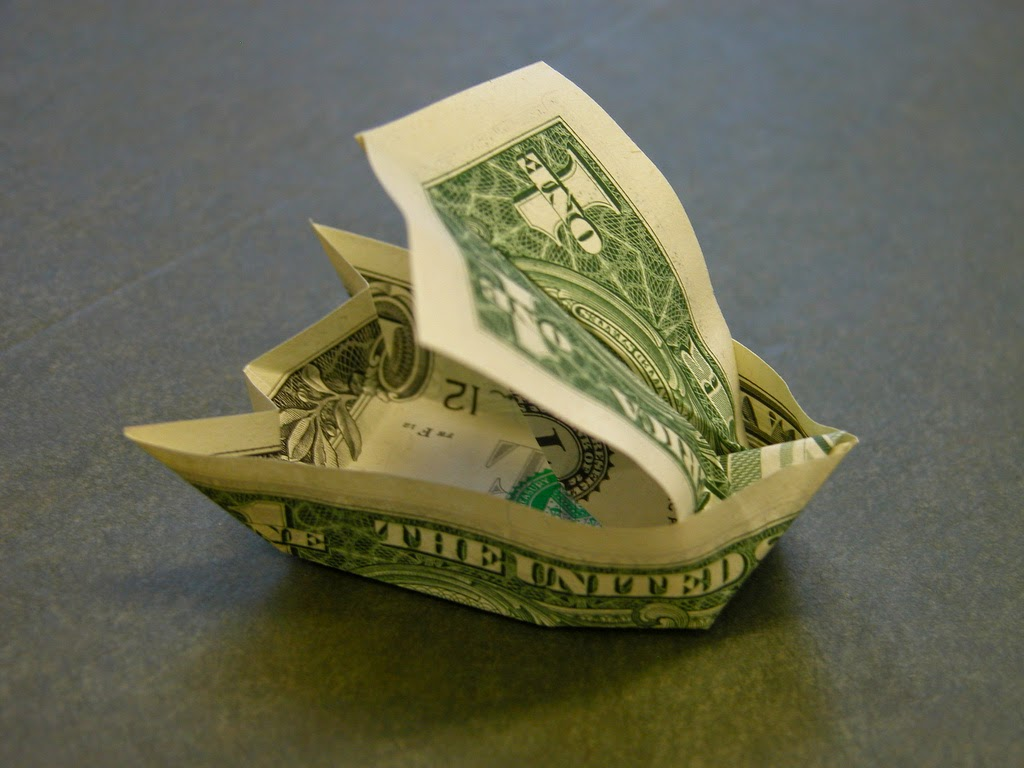 Projects Art And Craft Easy Money Origami Sailboat