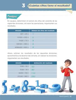 Respuestas Apoyo Primaria Desafíos matemáticos 5to grado Bloque I lección 3 ¿Cuántas cifras tiene el resultado?