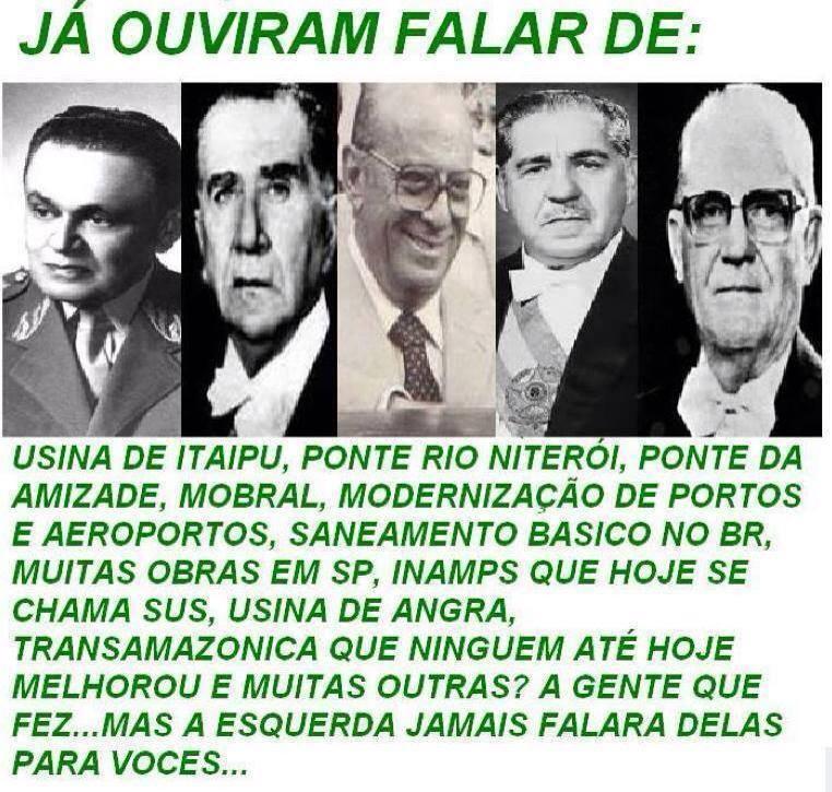GOVERNO MILITAR DE 1964 a 1985