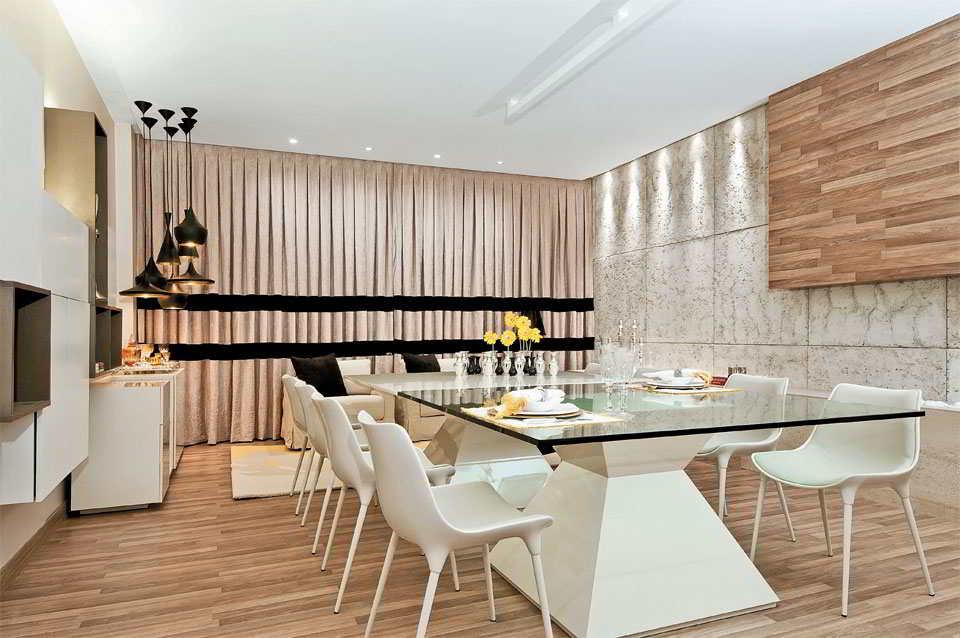 Sala De Jantar Pequena Casas Bahia ~ Decoração de sala de jantar – 35 opções de decoração moderna