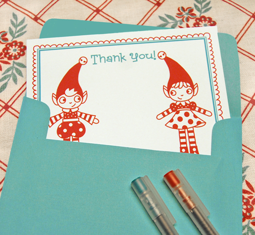 Christmas Thank You Cards {Free Printables} featured on Design Dazzle