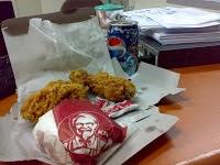 kertas bungkus nasi KFC / MCD