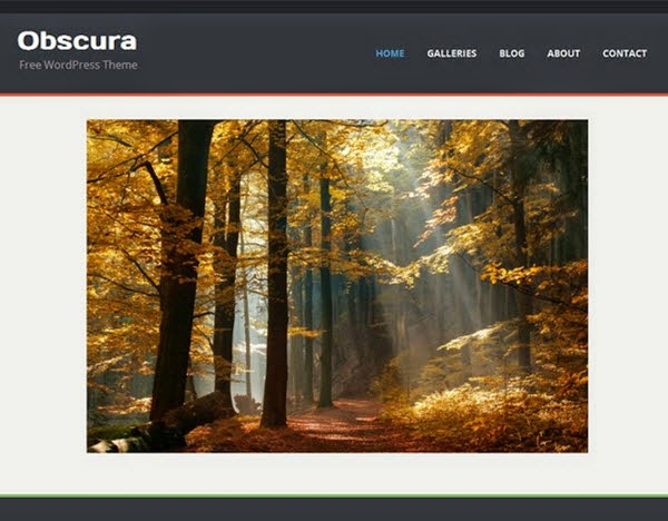 Obscura Free Portfolio WordPress Theme