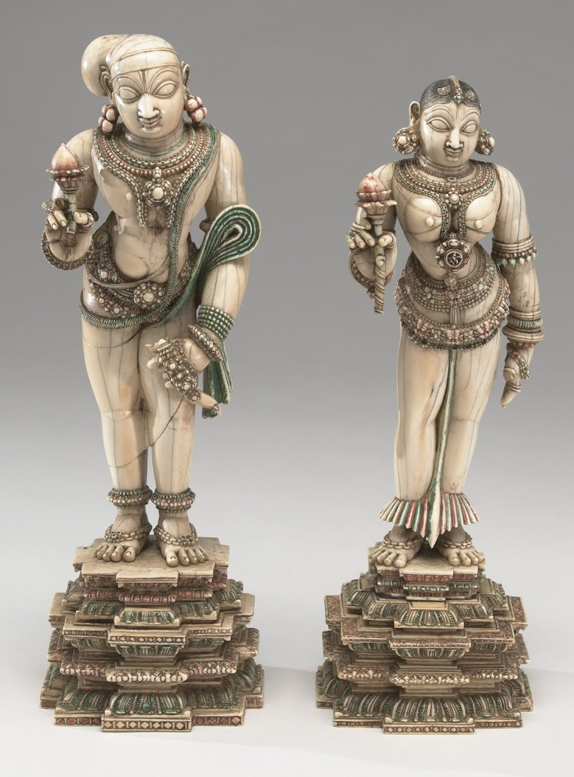 Ivory Idol of a Couple - India 18th Century
