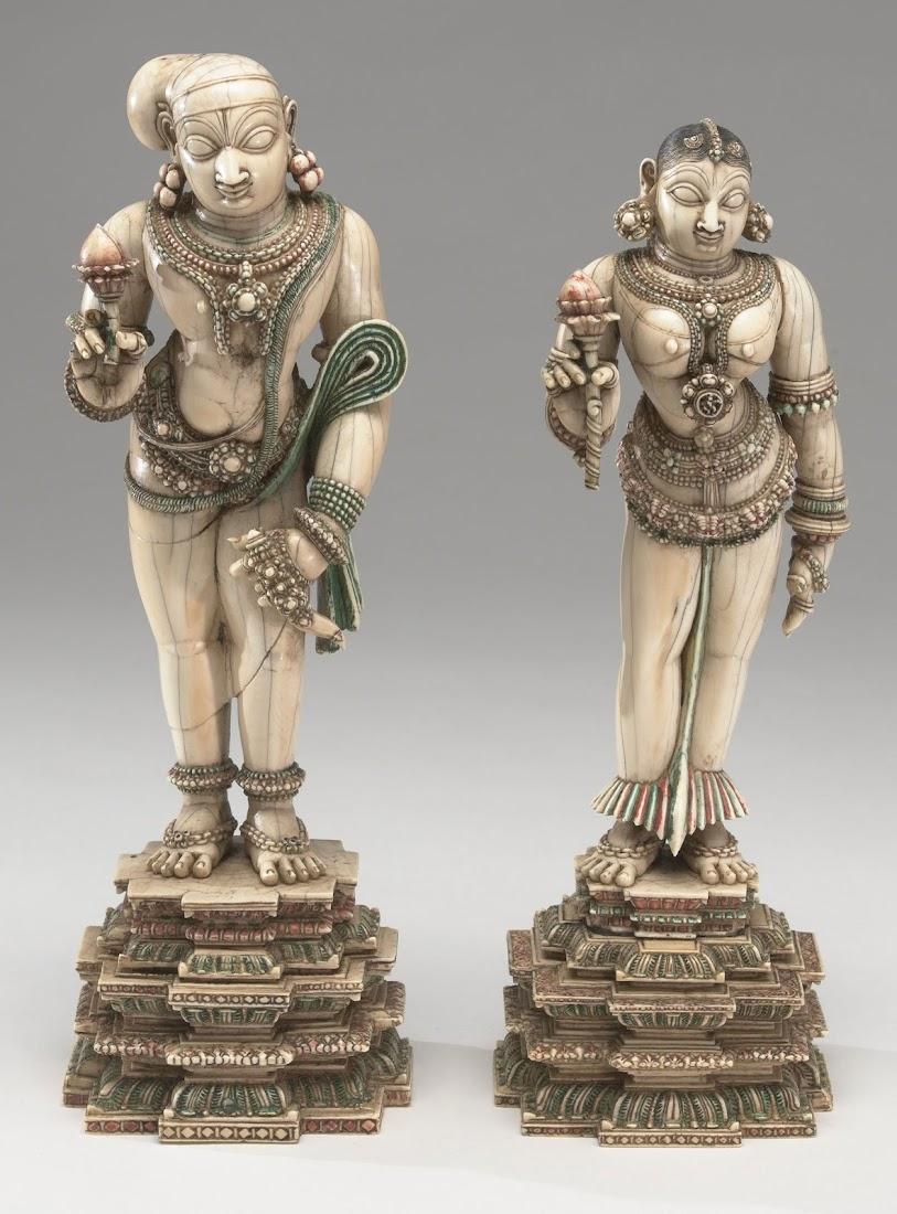Ivory Idol of a Couple - India 18th Century