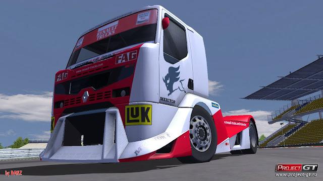 Camiones por un tubo en el simulador