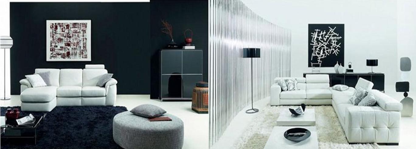 Pintura y madera cuatro combinaciones de colores para tu - Decoracion salon blanco y negro ...
