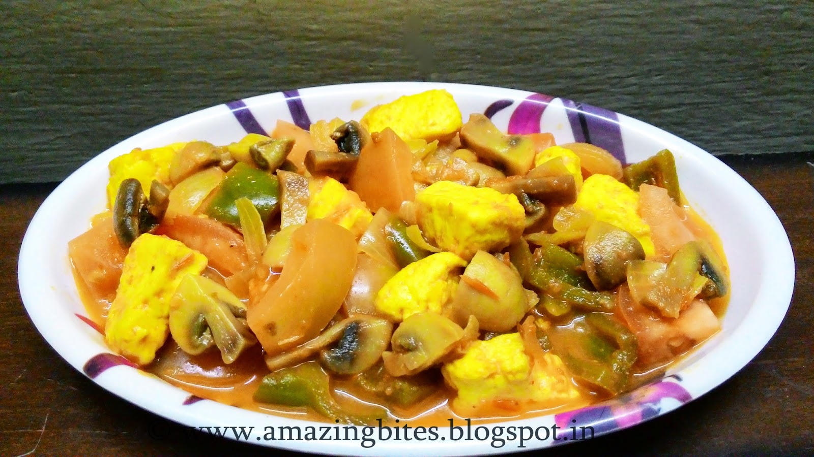 Paneer Mushroom Curry (low calorie)