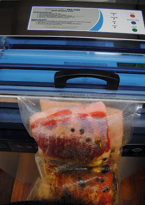 vacuum seal the pork belly in a weston gallon or extra large vacuum sealer bag then use a weston vacuum sealer to vacuum seal it - Weston Vacuum Sealer
