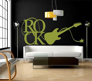 VINILO GUITARRA DE ROCK