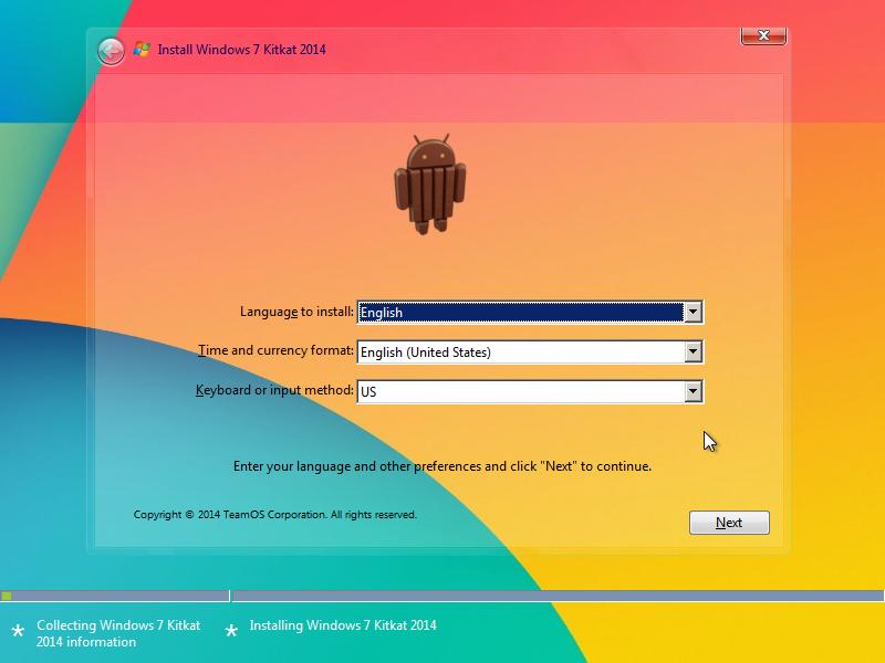 Windows 7 KitKat Edition x86/x64 2014