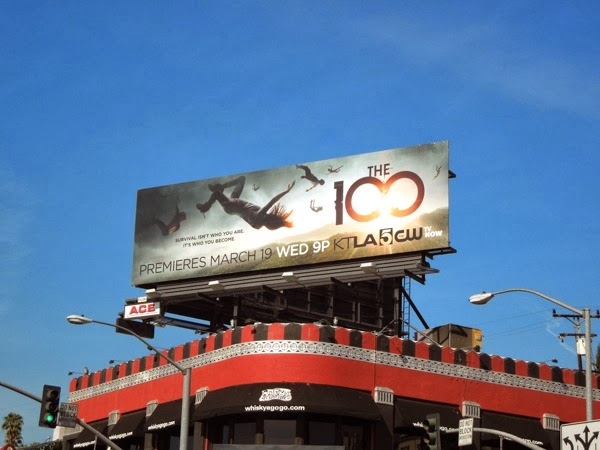 The 100 series launch The CW billboard