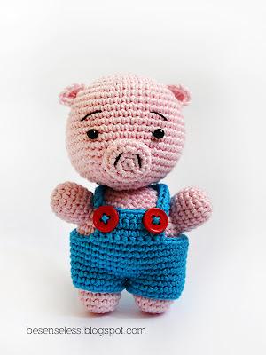 AMIGURUMI PIG PATTERN FREE Knitting PATTERNS