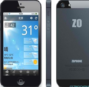 Smartphone Zophone i5, Produk China Yang Meniru Apple iPhone 5