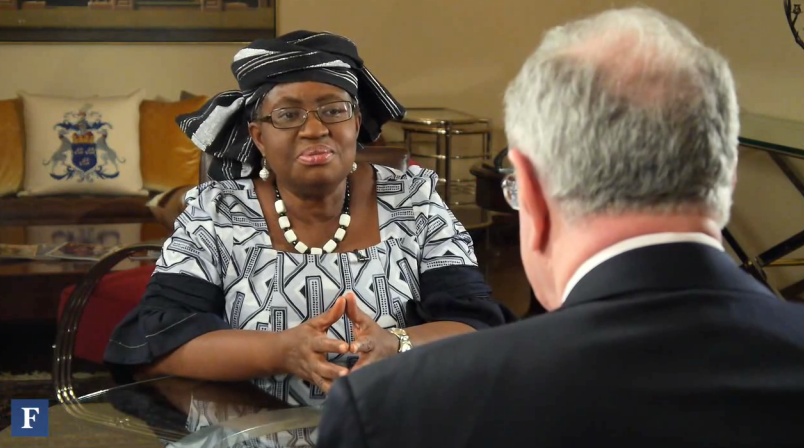 Finance Minister Ngozi Okonjo-Iweala talks to Steve Forbes.