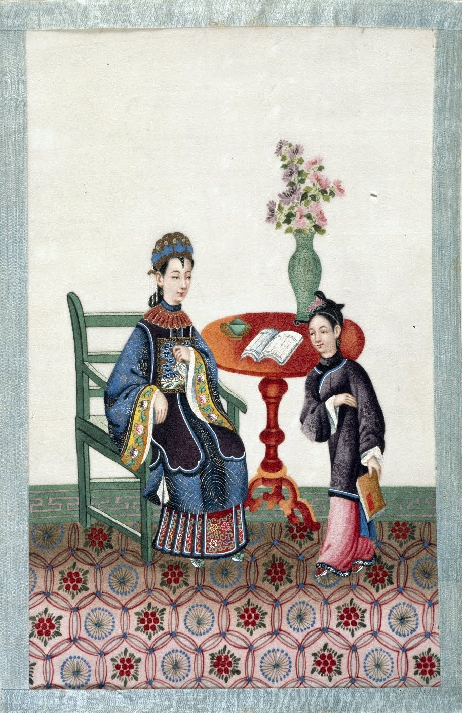 royal court scene in China
