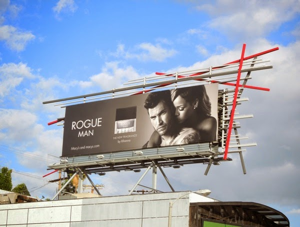 Rihanna Rogue Man fragrance billboard