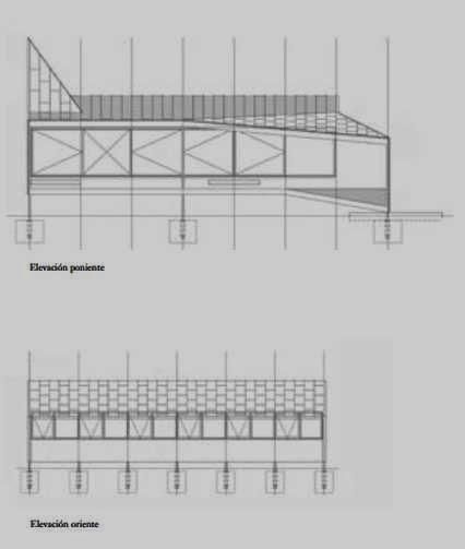 Plano de arquitectura con dos alzadas de la Casa de cobre 2