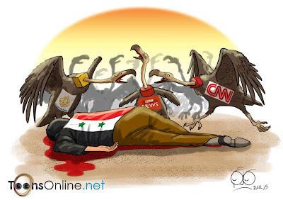Afbeeldingsresultaat voor propaganda nederlandse media over Syrië cartoon