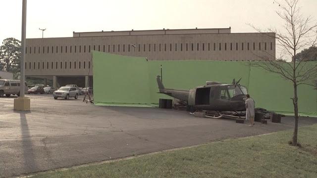Escenarios de películas antes y después de los efectos especiales
