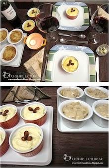 Jantar servido em ramekins