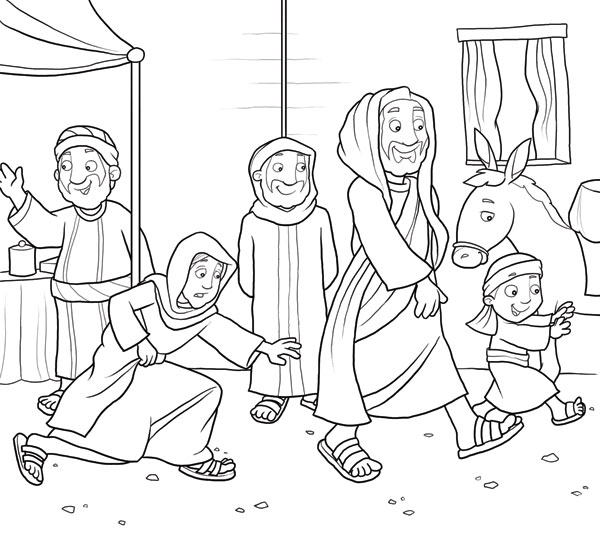 Jesus Heals The Paralytic Coloring Page Jesus Heals The Paralyzed