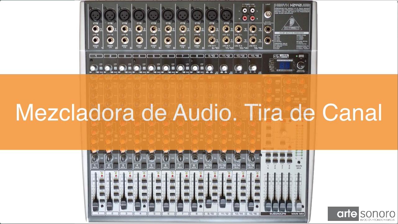 Mezcladora de audio. Tira de canal