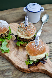 Mushroom and Lentil Sliders