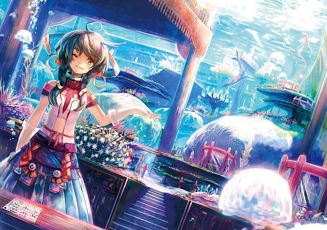Anime girl Fantasy original underwater wink hd wallpaper desktop pc wallpaper a52