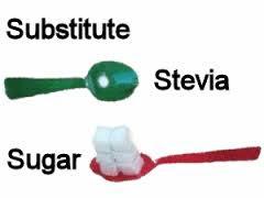 tukar gula kepada stevia