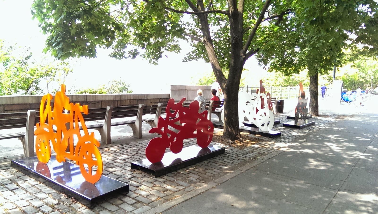 Biking Sculptures at Brooklyn Heights Promenade