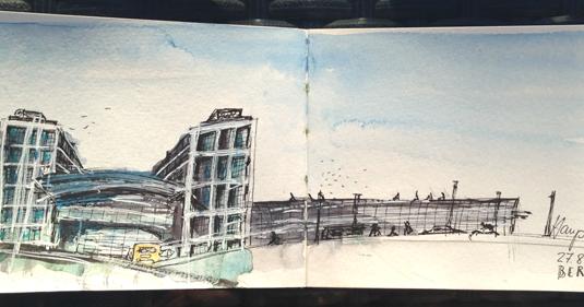 urban sketchers germany berlin hauptbahnhof. Black Bedroom Furniture Sets. Home Design Ideas