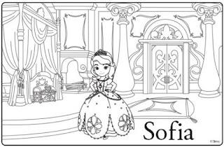 Gambar Mewarnai Putri Sofia Terbaru