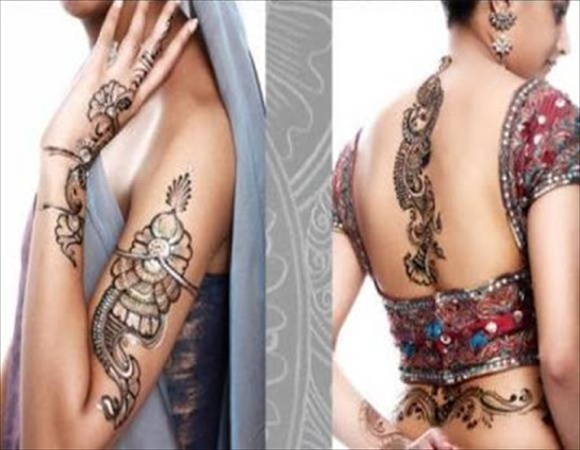 simple mehndi tattoo designs