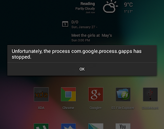 Unfortunately, the process com.google.process.gapps has stopped