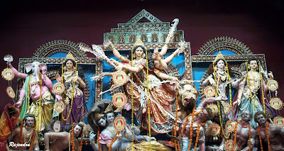 Maa Durga with family
