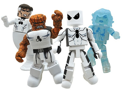 San Diego Comic-Con 2011/Disney Store Exclusive FF Minimates Box Set - Future Foundation Members Mr. Fantastic, The Thing, Spider-Man &amp; Invisible Woman