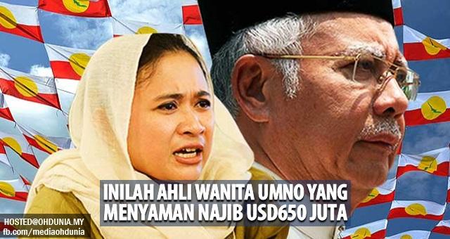 Inilah Ahli Wanita UMNO yang menyaman Najib sebanyak USD650 juta