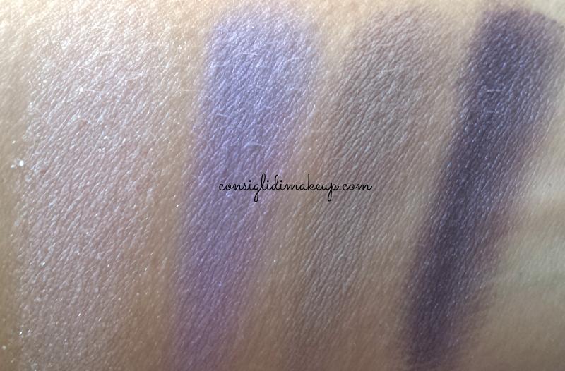 swatch palette elizabeth arden posh purples