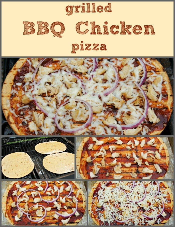 The Creative Princess: Grilled BBQ Chicken Pizza
