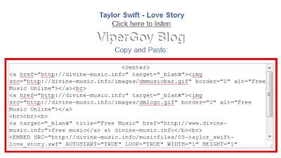 Cara Memasang Lagu Di Blog ViperGoy