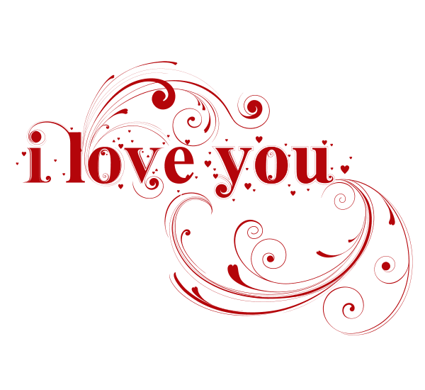 Elegant I Love You Image