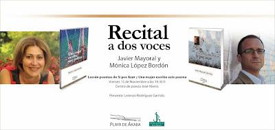 Playa de Ákaba, Javier Mayoral, Si por azar, Una mujer escribe este poema, Mónica López Bordón, poesía